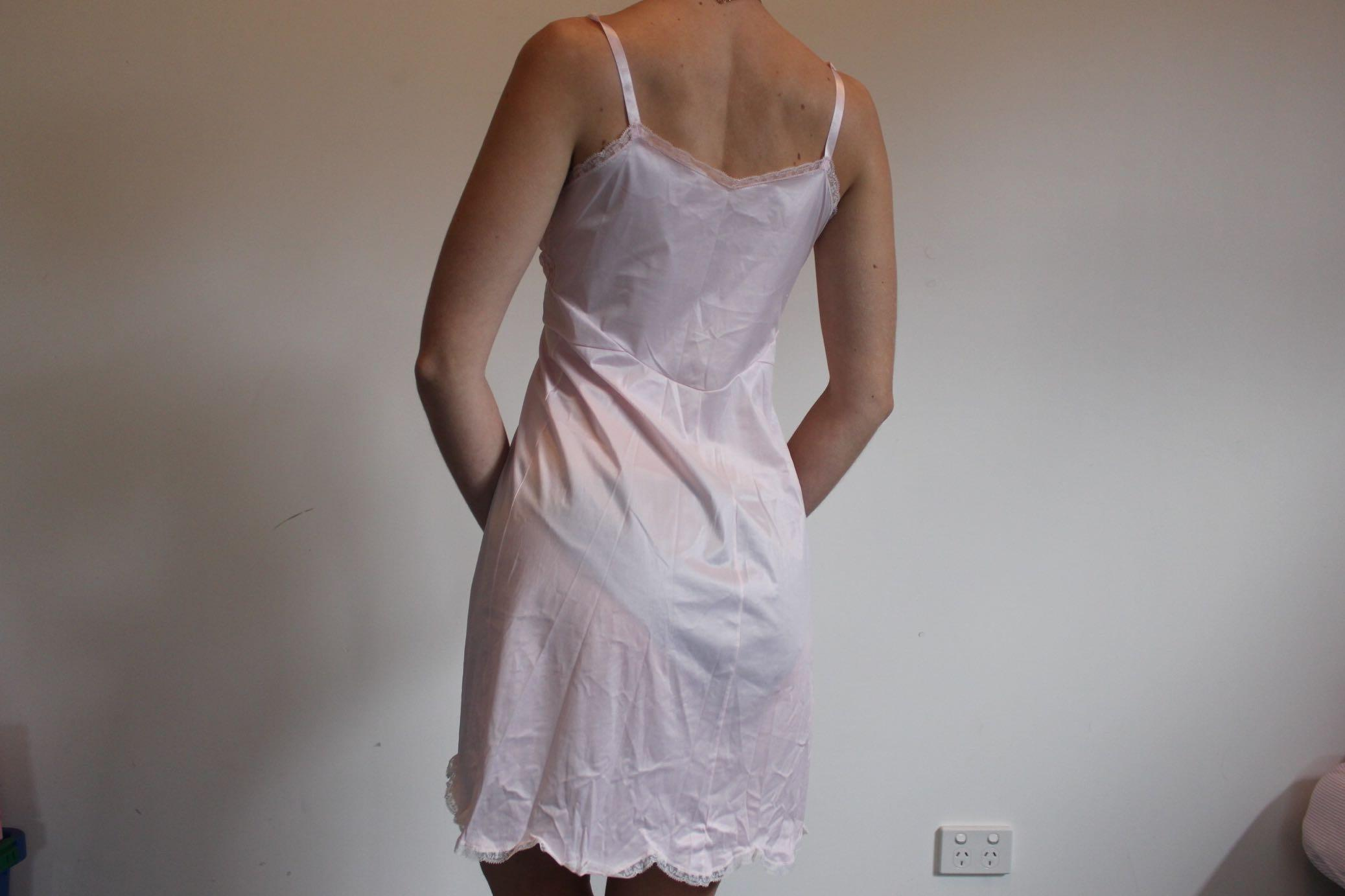 Pale pink true vintage slip dress