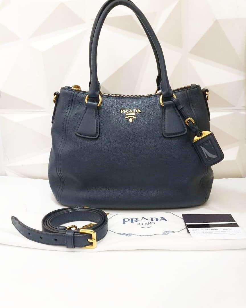 Prada grained leather with strap