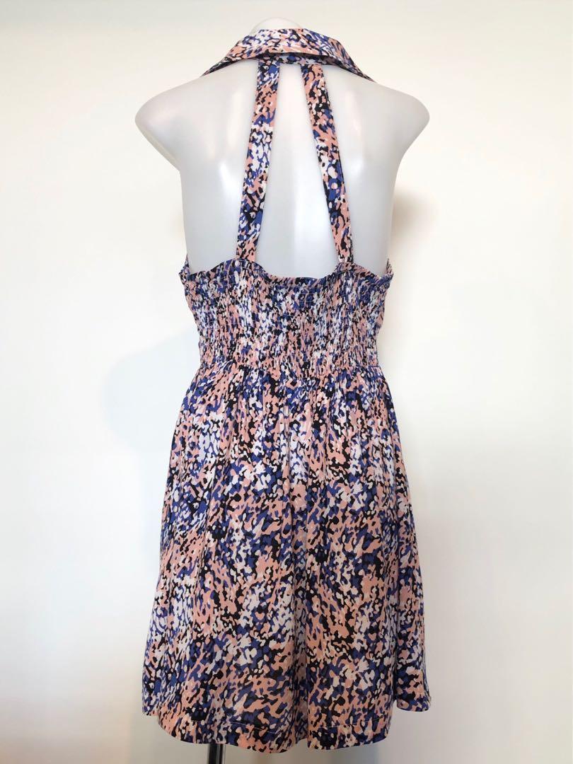 Proposition Multi-Colour Leopard Print Collared Mini Dress, Size 10