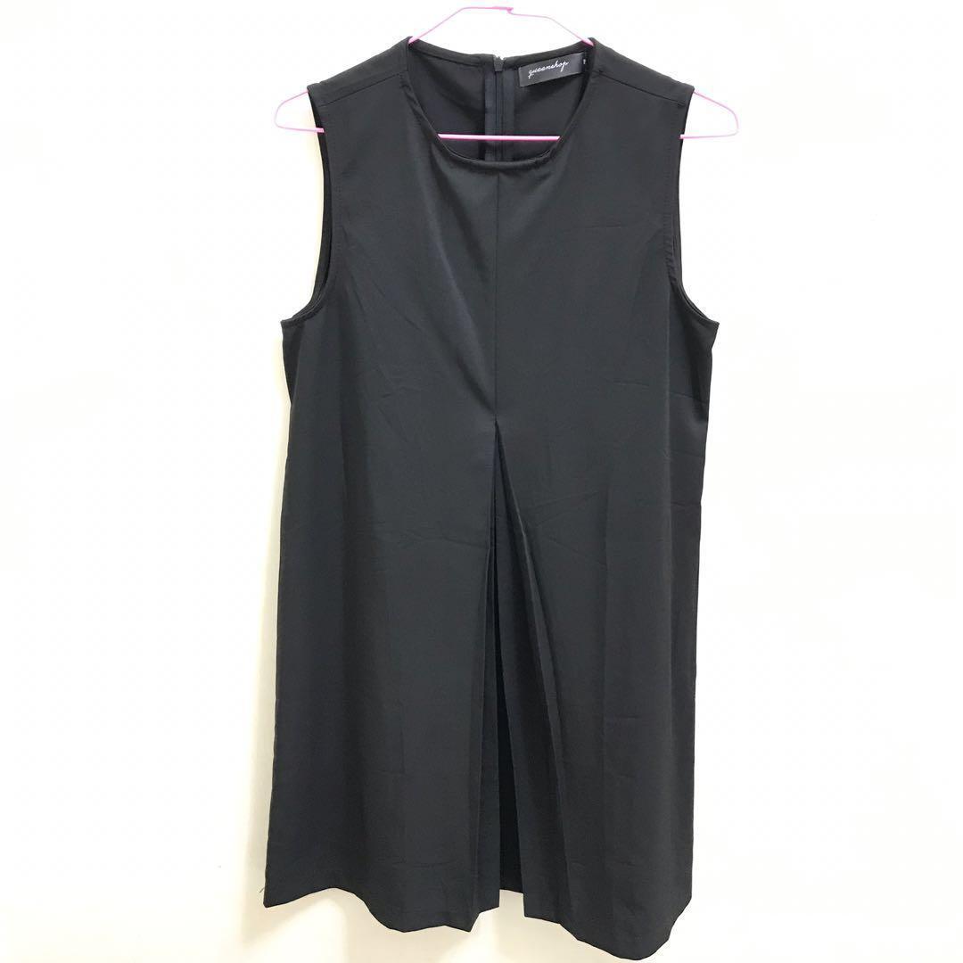 Queen shop 設計款背心連身洋裝