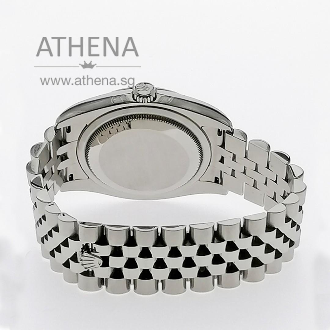 """ROLEX MENS OYSTER PERPETUAL DATEJUST """"M"""" SERIES """"WHITE ROMAN DIAL"""" WITH CHAPTER RING 116234 JGWRL_966"""