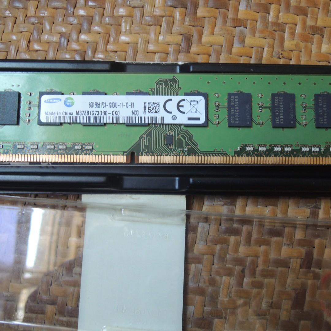 Samsung 8GB DDR3-1600MHz PC3-12800 240pin Dimm Desktop Memory Ram