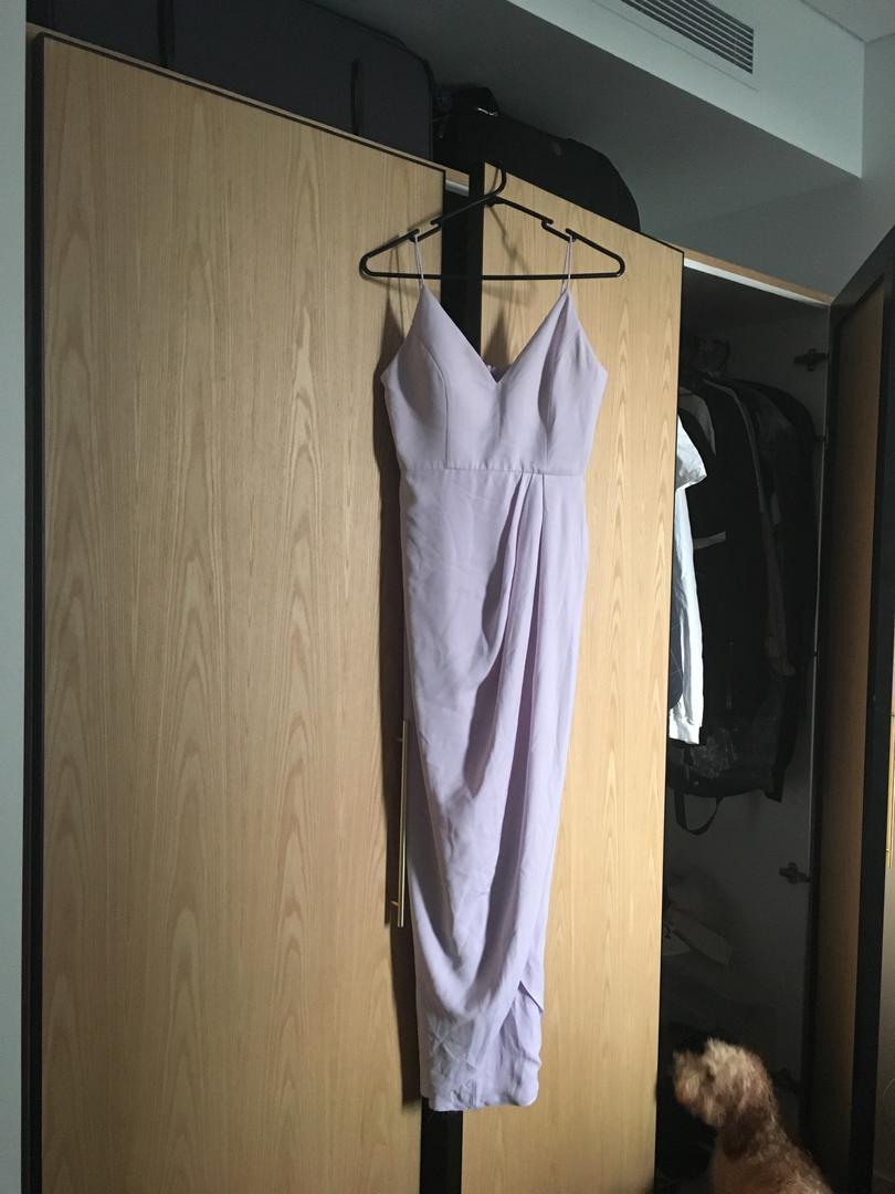 SHONA JOY BRIDESMAID DRESS LIGHT LAVENDER SIZE 8 WORN ONCE