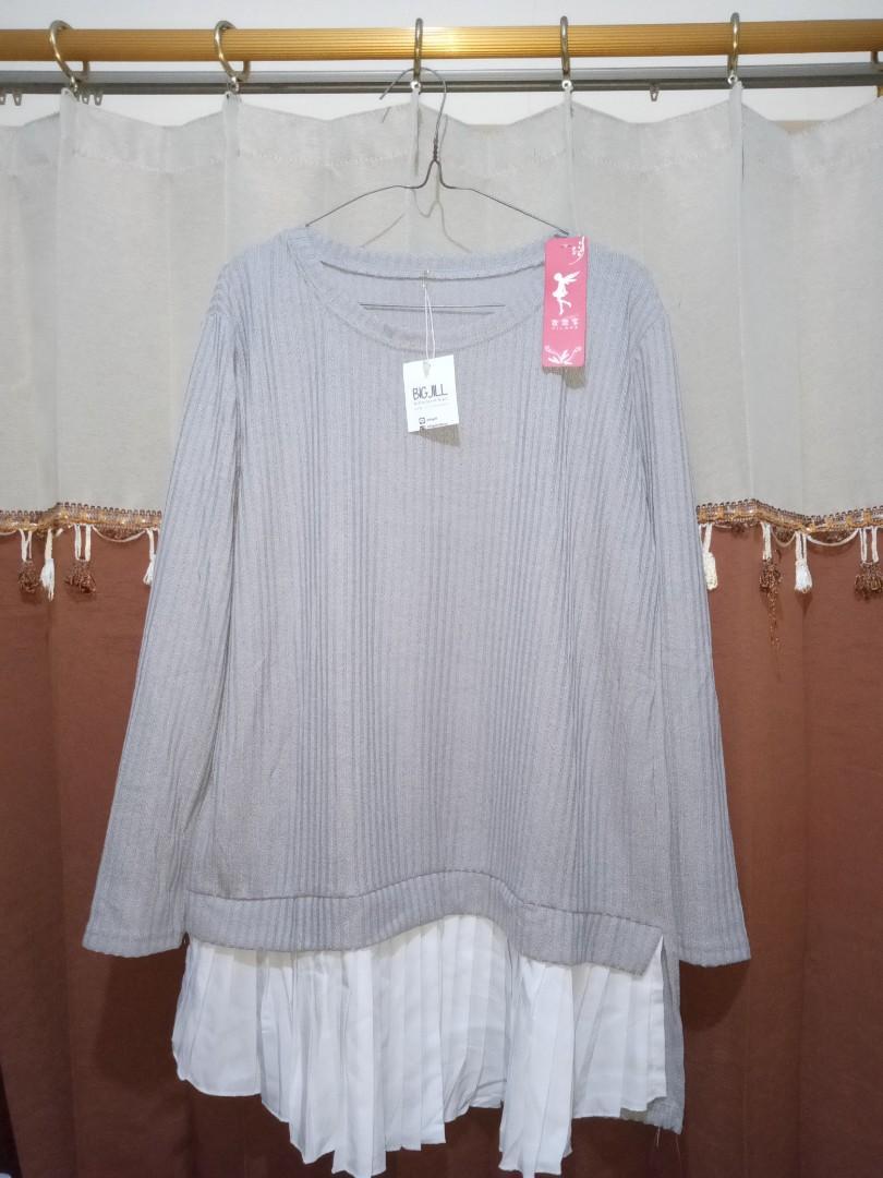 Stella knit plisket 4w grey