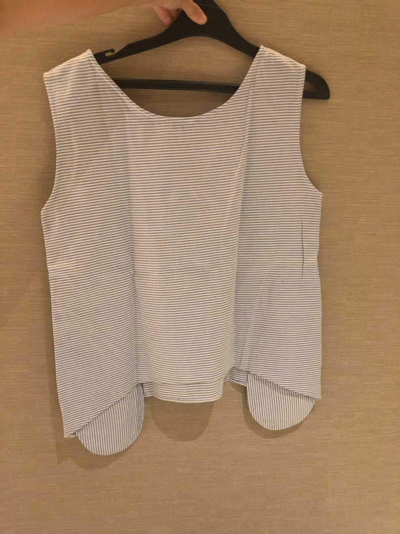 Stitched Sleeveless Top