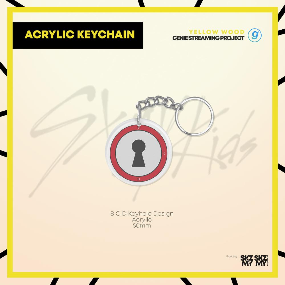 Stray Kids Yellow Wood Genie Streaming Project Acrylic Keychain
