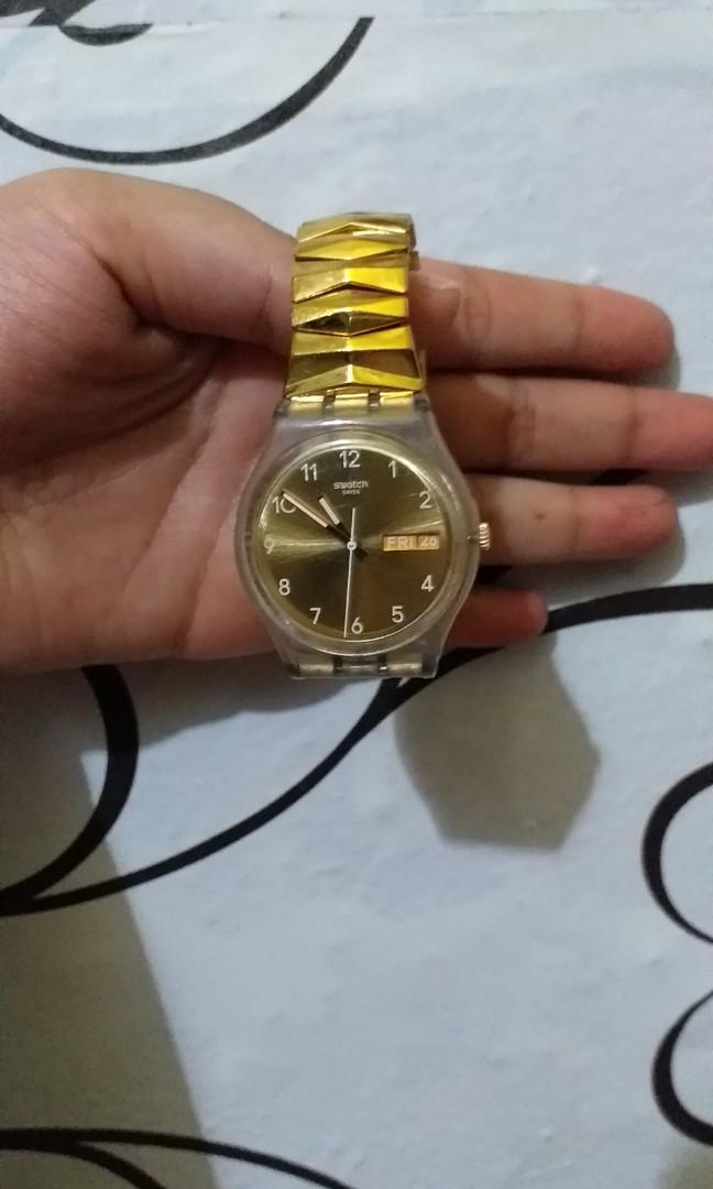 Swatch gold lady