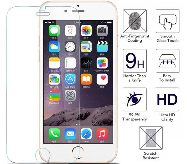 Tempered Glass Screen Protector for Apple iPhone 8 & iPhone 8+