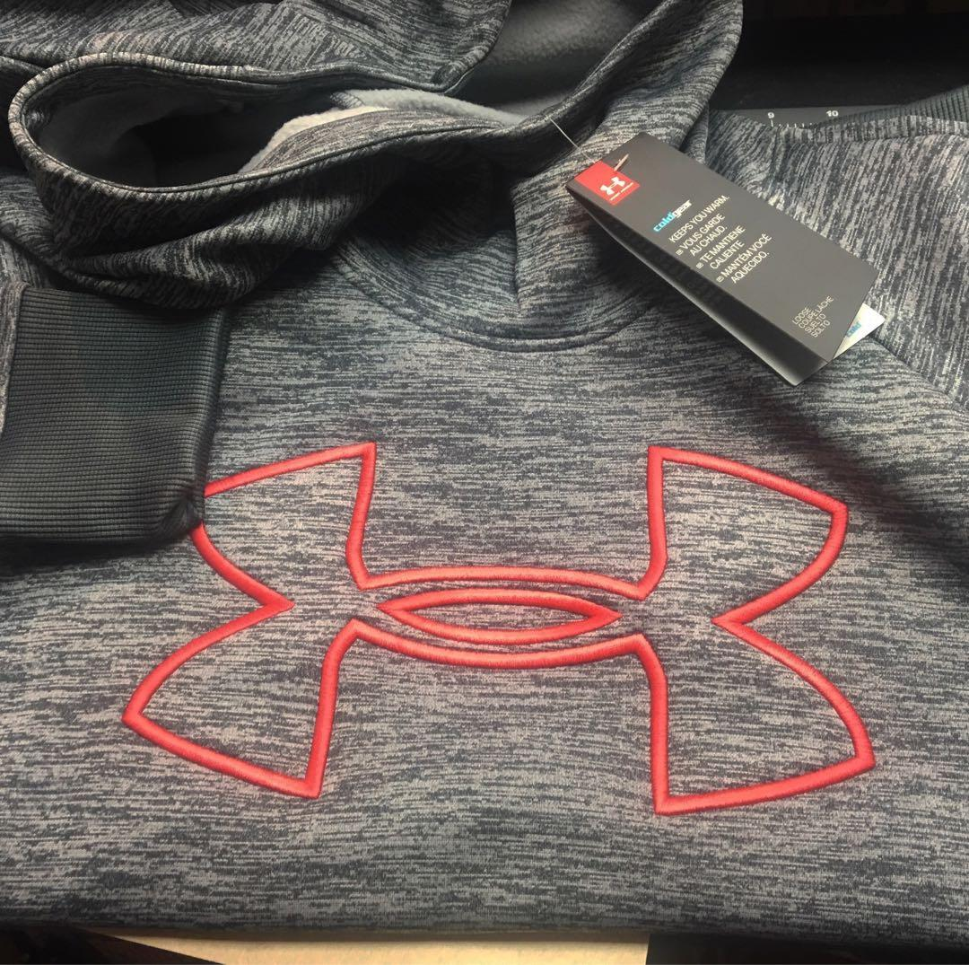 Under Armour hoodie with pink logo new with tags and bag