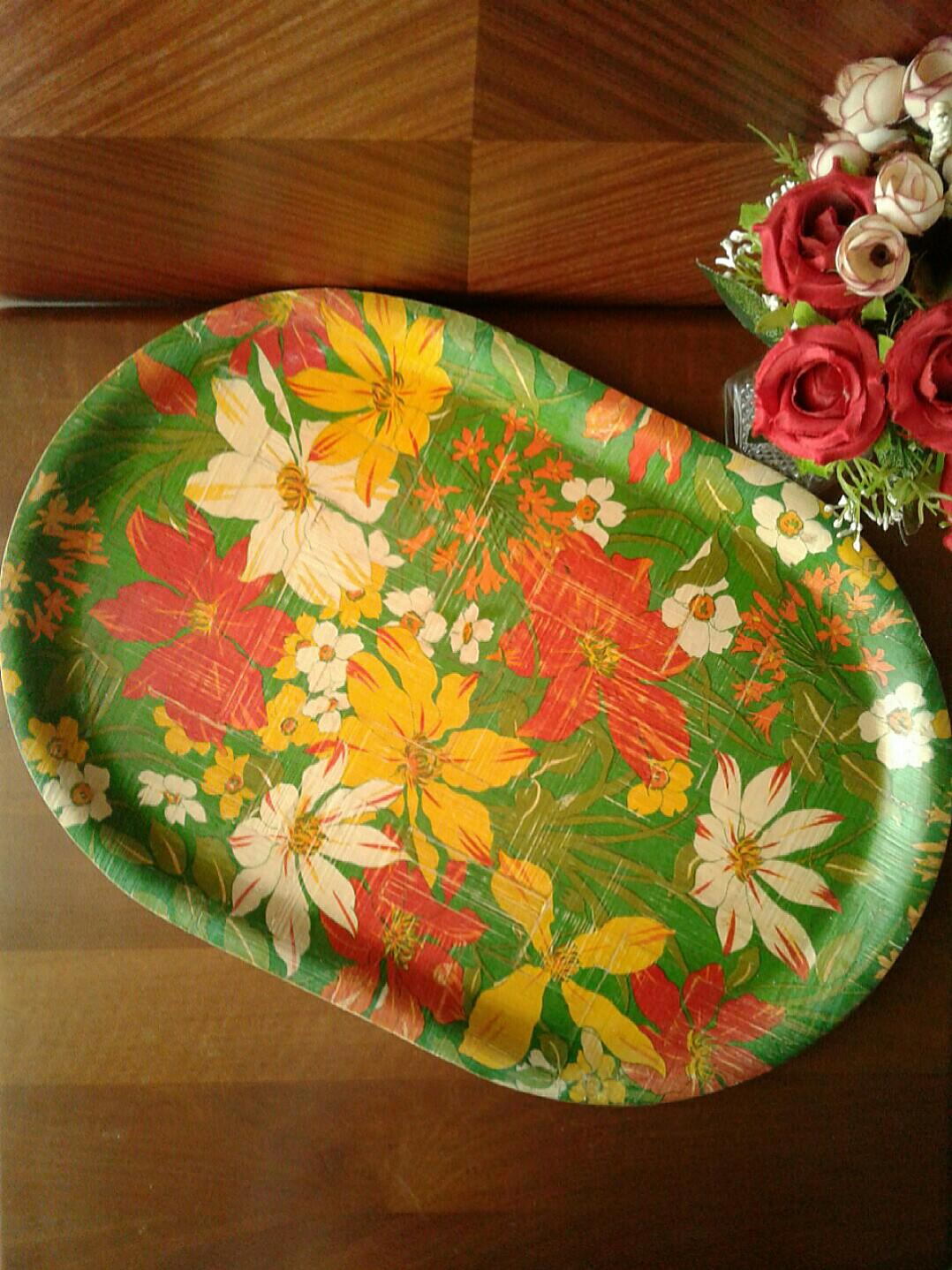 Vintage Bamboo Serving Tray Vintage Collectibles Vintage Collectibles On Carousell