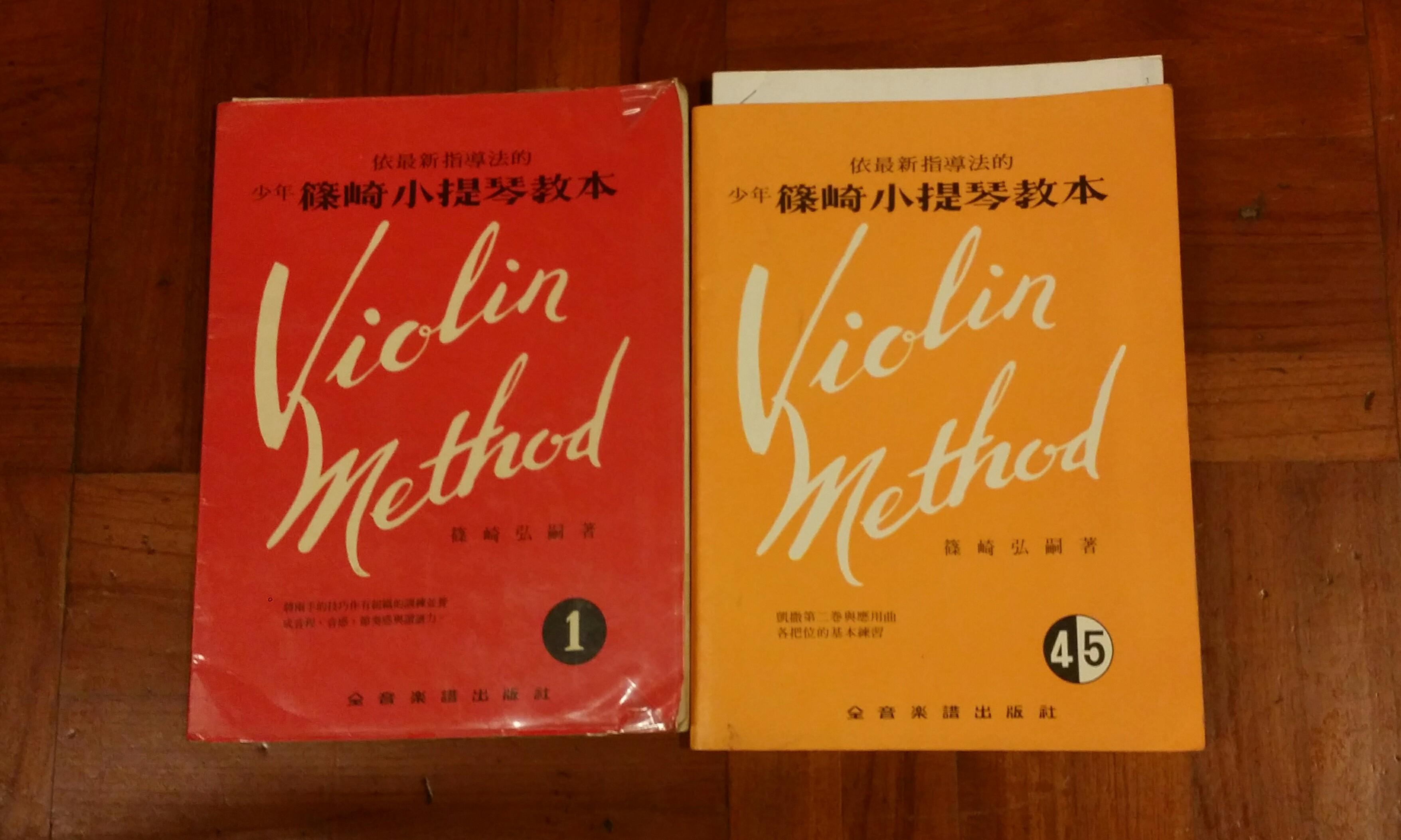 Violin exercise book Suzuki violin method, Wohlfahrt sixty studies for  violin
