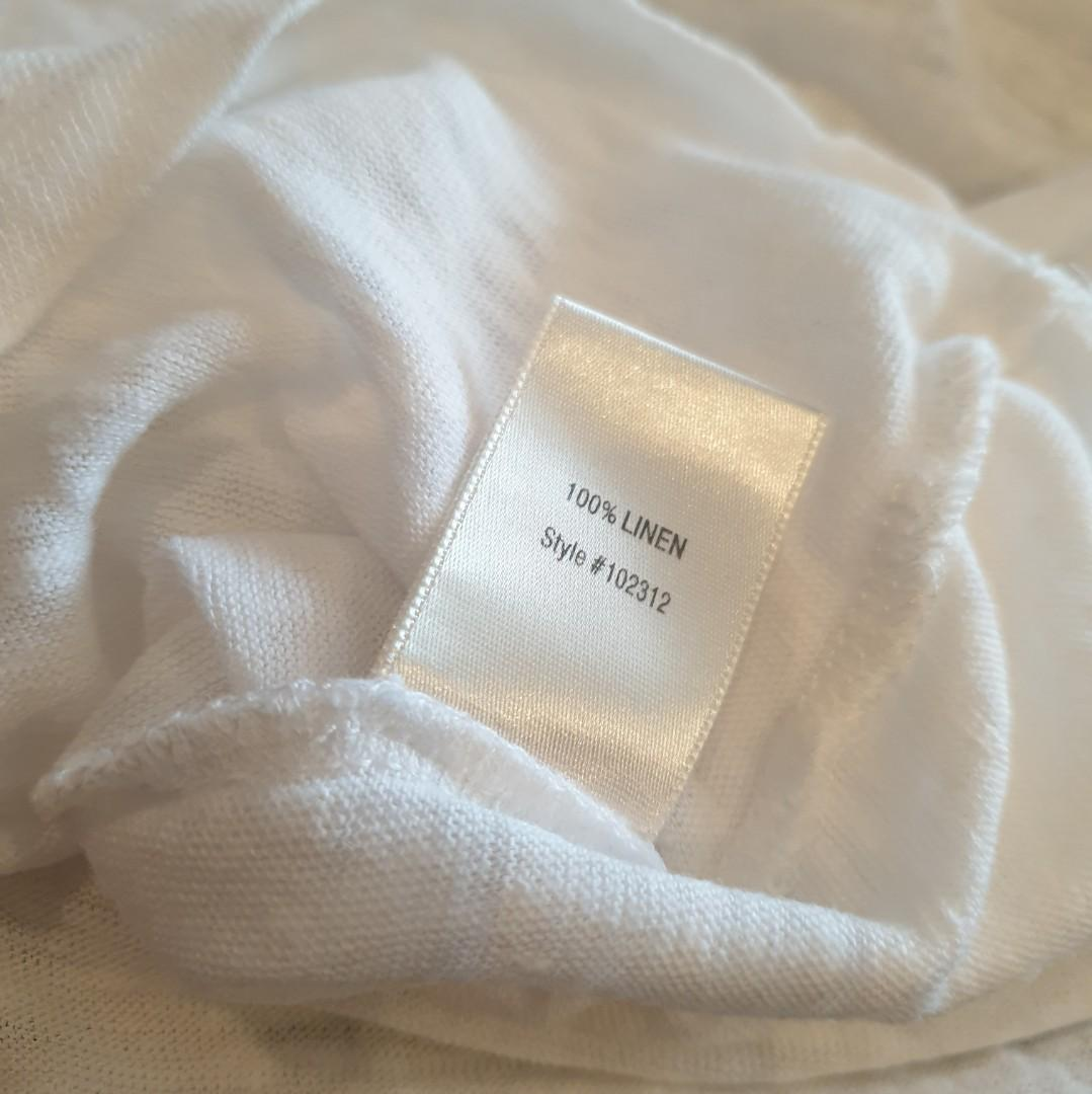 Women's size S 8-10 'WITCHERY' Stunning white linen t shirt top - AS NEW