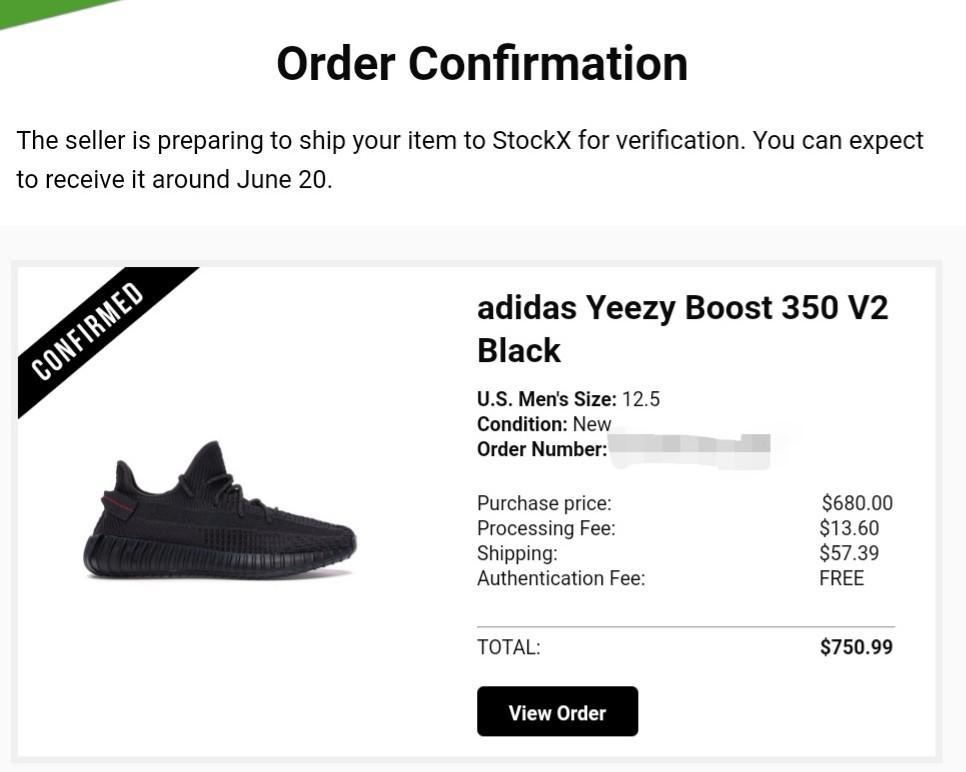 Yeezy Boost 350 V2 Black (Non