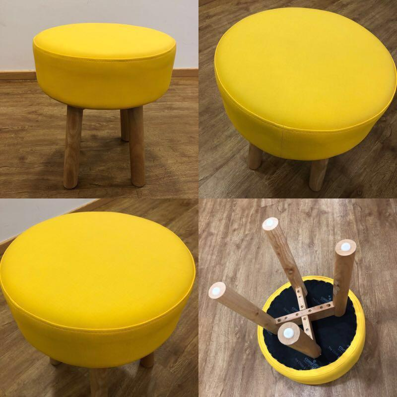 Swell Yellow Faux Leather Pu Stool Furniture Tables Chairs On Gmtry Best Dining Table And Chair Ideas Images Gmtryco