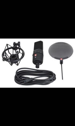 sE Electronics SE-X1 電容式錄音室麥克風組內附 噴麥罩/防震架/麥克風線