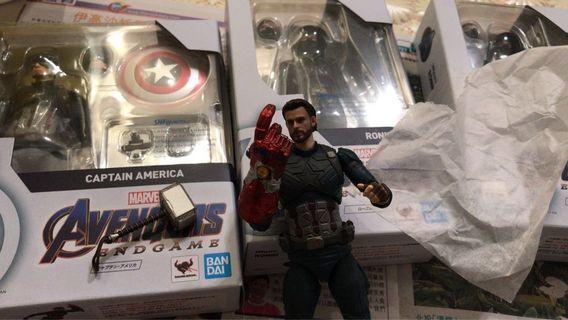 Shf marvel legends 損戰版 無限手套  Ironman endgame thanos hulk