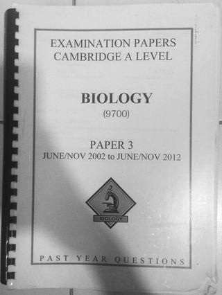 A level Biology p3+ms