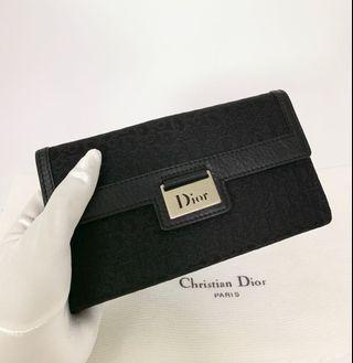 💯真品Auth 超新 Christian Dior black monogram long wallet 網紅大熱超人氣經典黑色長款銀包