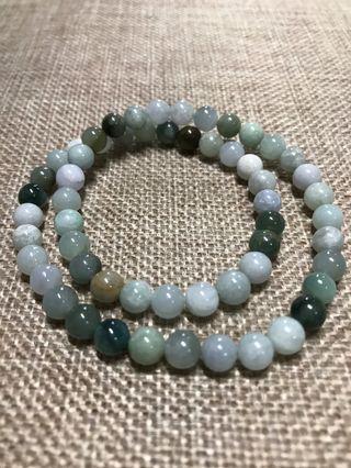 6mm Jade Bracelet 2 loops