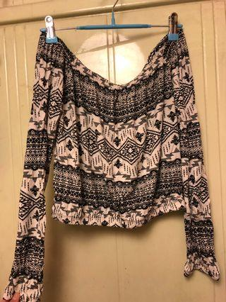 Off Shoulder Top Aztec