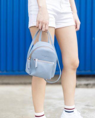Blue mini bag