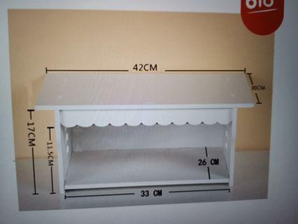 DIY desktop storage rack
