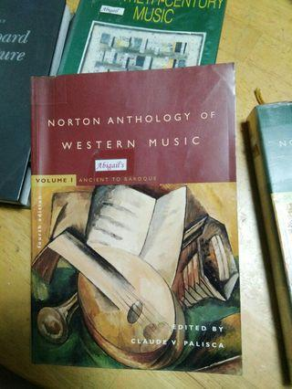 Music reference - Norton Anthology of Western Music Volume 1 Ancient to Baroque