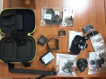Sony action cam FDR-X3000R 連十件原廠配件
