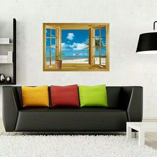 Wall Sticker 3D Stiker 3D jendela