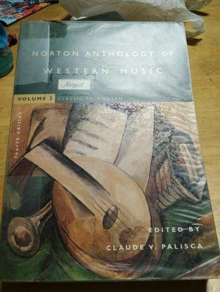Music reference - Norton Anthology of Western Music Volume 2 Classic to Modern