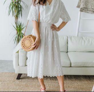 Ksisters Eyelet Dress (White)