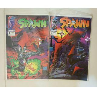 SPAWN #1-2 (Image comics, Todd McFarlane)