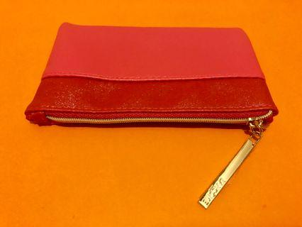 Lancôme 粉紅色輕便化妝袋 電話袋 small pouch cardholder coin phone pink