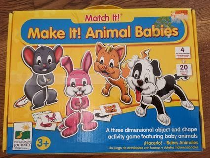 Brand new animals  babies puzzle