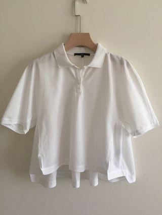 TIBI white loose fit T- shirt size S