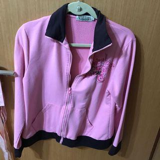 🚚 pink zip jacket sweater