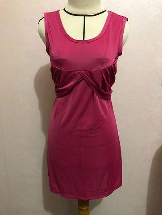 Pink Dress , midi dress , dress tanktop