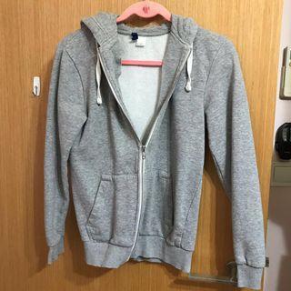 grey zip hoodie jacket sweater long sleeve hood