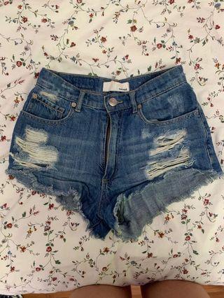 Garage Ripped Shorts