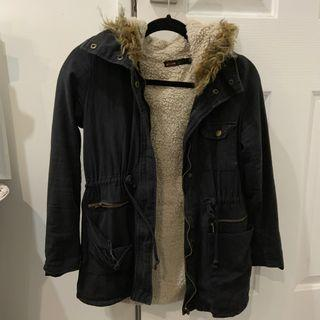 Wool Parka Jacket - Size 8