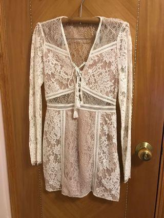 The jerset diaries lace dress (revolve)