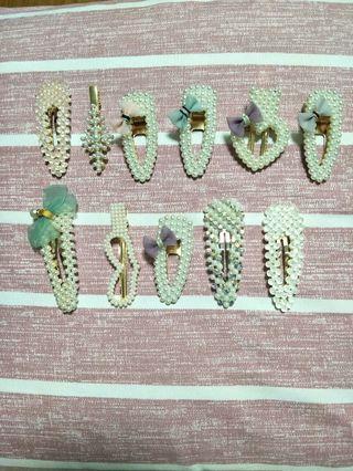 Korea designed hairclip ( pearl/ crystal)