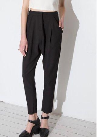 Cameo drop crotch black pants