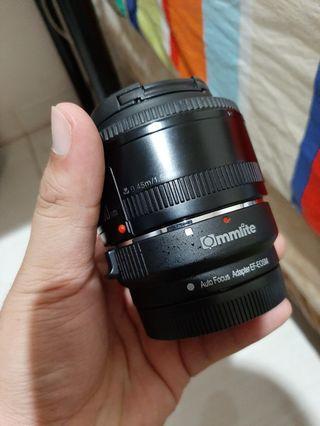 Fix 50mm f1.8 plus adaptor mirrorless