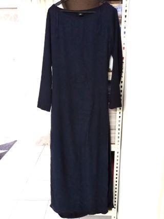Uniqlo Hana Tajima wrap dress navy blue