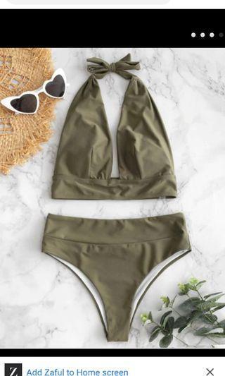 Zaful High Waisted Bathing Suit M