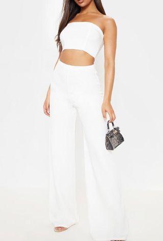 White dress pants Pretty Little Thing