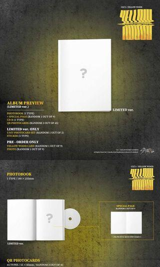 (closed) stray kids - clé 2: yellow wood limited ver