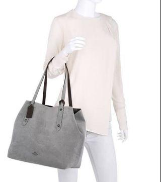 Authentic Coach Suede Leather Reversible Tote Bag
