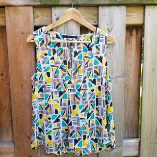 Zara abstract pattern sleeveless blouse